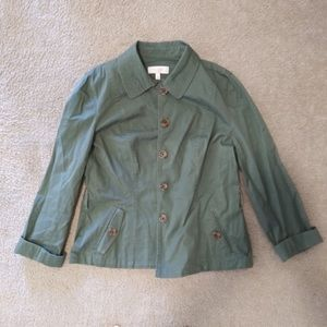 Women's Green Army Jacket - Talbots, 14